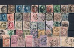 Belgica. Ficha Conteniendo 45 Sellos Clásicos Usados. Valor De Catalogo 1197.50 - Belgique