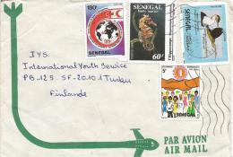Senegal 1991 Dakar Yoff Red Cross Croix Rouge Sea Horse Marine Life Water Bird AIDS HIV Cover - Senegal (1960-...)