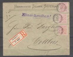 Altdeutschland - Württemberg - R - Brief  31.8.1886 / Stuttgart 1 Nach Cottbus / Siehe Fotos - Wuerttemberg