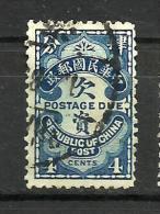 CHINA..1913..Michel # 45 I...used... Portomarken. - Chine