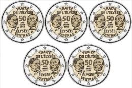"Duitsland 2 Euromunt UNC CC 2013 ""Elysee Verdrag"" (5 Letters ) - Deutschland"