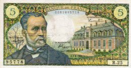 - BILLET De 5 Fr Pasteur - A 1-9-1966 A - 453 - 1962-1997 ''Francs''