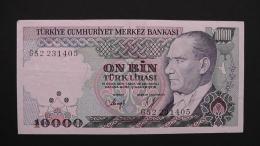 Turkey - 10.000 Lira - 1982 - P 199 - VF+ - Look Scan - Türkei