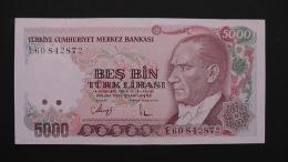 Turkey - 5.000 Lira - 1986 - P 197b - VF+ - Look Scan - Türkei