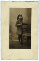 TASSIN: Gros Plan Sur Melle. Blanche Navarra. Carte Photo Identifiée Au Verso - Autres Communes