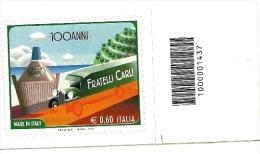 2011 - Italia 3342 Fratelli Carli - Codice A Barre - 6. 1946-.. Repubblica