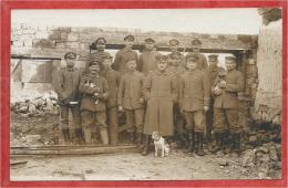 08 - ARGONNEN - ARGONNE - Carte Photo Allemande - Soldats Allemands - Guerre 14/18 - Feldpost - France