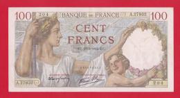 "BILLET DE 100 FRANCS  "" SULLY ""  DU  29-1-1942  A.27932 - 100 F 1939-1942 ''Sully''"