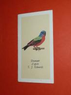 Calendrier Illustré, 1971, Oiseau Diamant D'après TJ Edwards - Small : 1971-80