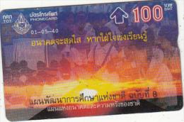 THAILAND(L&G) - TOT Telecard 100 Baht, CN : 713A, Used - Thailand