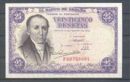 EDIFIL D51a.-   25 PTAS 19 DE FEBRERO DE 1946.- FLOREZ ESTRADA - [ 3] 1936-1975 : Regime Di Franco