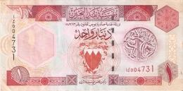 BILLETE DE BAHRAIN DE 1 DINAR DEL AÑO 1993  (BANKNOTE) - Bahrein
