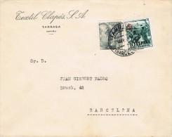 4749. Carta TARRASA (Barcelona) 1953. Pro Tuberulosos - 1951-60 Cartas