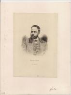 Superbe Gravure 19ième. Emile ZOLA.(1840-1902) Signature Burney.Imprimerie A Quentin. - Prints & Engravings