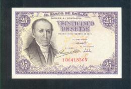 EDIFIL D51a.-   25 PTAS 19 DE FEBRERO DE 1946.- FLOREZ ESTRADA - [ 3] 1936-1975: Franco