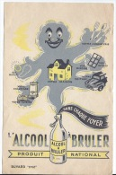 Buvard  L'ALCOOL àbruler - Produits Ménagers