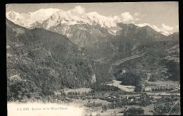 74 SERVOZ / Vue Générale Et Le Mont Blanc / - France