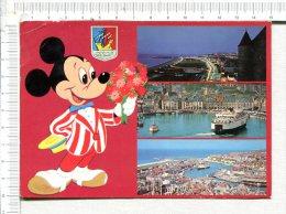 DIEPPE -   3 Vues Et Michey -  Illustration   Walt Disney Productions - Dieppe