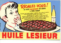 Buvard  Alimentaire  Marque  HUILE  LESIEUR  Régalez-vous - Papel Secante