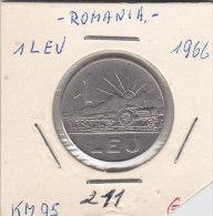 1 LEU ROUMANIE 1966 - Roumanie