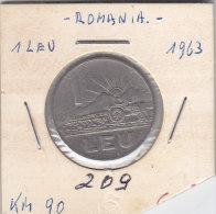 1 LEU ROUMANIE 1963 - Roumanie