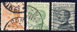 Michetti - 1925 - Serie Completa Di 3 Valori (Sassone 183-184-185) - Oblitérés