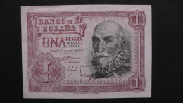 Spain - 1 Peseta - 1953 - P 144a - VF+ - Look Scan - [ 4] 1975-… : Juan Carlos I