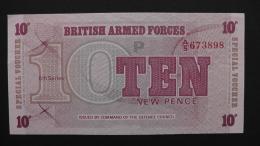 Great Britain -  10 New Pence - 1972 - P M 45a - Unc - Look Scan - Militärausgaben