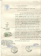 Ville D' Amiens Extrait D Acte De Mariage De 1908 De George Poiré ( Resistant )  F.T.P.F  Cachet Embouti  Cachet Mairie - Manuscripten