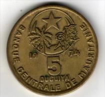 MAURITANIE - 5 OUGUIYA - 1974 - Mauritanie