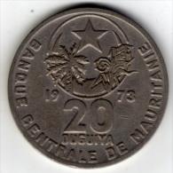 MAURITANIE -(république Islamique De) - 20 OUGUIYA - 1973 - Mauritanie