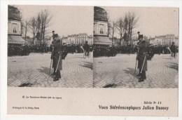 Vues Stéréoscopiques Julien Damoy - Le Tambour Major (46e De Ligne) - Stereoscopische Kaarten