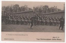 Vues Stéréoscopiques Julien Damoy - Tambours De La Garde (visite D'Edouard VII) - Stereoscopische Kaarten