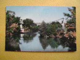SAINT THIBERY. Le Pont Suspendu De L'Ile. - Other Municipalities