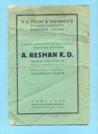 POLAK SCHWARZ-SALE PERFUME-HOLLAND-1938 - Catalogues