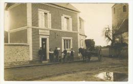 """CARTE PHOTO """" BUREAU DE POSTE CAISSE NATIONALE D' EPARGNE  """" ATTALAGE A IDENTIFIER - Cartes Postales"""
