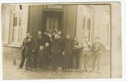 "CARTE PHOTO "" F. HUYSMAN  "" ESTAMINET ? A IDENTIFIER VERSO VIERGE - Cartes Postales"