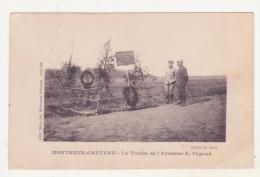 MONTREUX-CHATEAU - LA TOMBE DE L'AVIATEUR A. PEGOUD - CPA ANIMEE - Francia