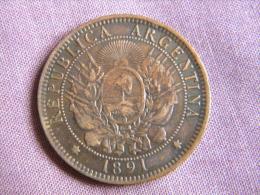 ARGENTINE - 2 CENTAVOS 1891. BEL ETAT. - Argentine