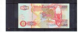 SAMBIA ,  ZAMBIA   , 1992 ,  50  Fifty Kwacha  ,  Pick# 37   ,  UNC - Sambia