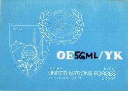 GOLAN , Syria , United Nations Forces , UNDOF  ,  QSL  , Radioamatori * - Syrie