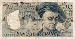 - BILLET De 50 F. QUENTIN DE LA TOUR - 1977 -  475 - 1962-1997 ''Francs''