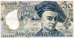 - BILLET De 50 F. QUENTIN DE LA TOUR - 1980 -  477 - 1962-1997 ''Francs''