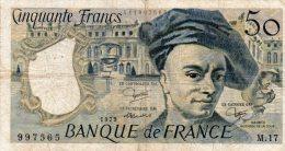 - BILLET De 50 F. QUENTIN DE LA TOUR - 1979 -  483 - 1962-1997 ''Francs''