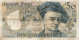 - BILLET De 50 F. QUENTIN DE LA TOUR - 1983 -  487 - 50 F 1976-1992 ''Quentin De La Tour''