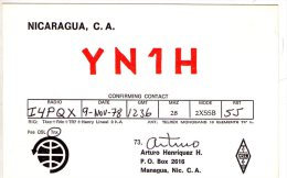 MANAGUA , Nicaragua  ,  QSL  , Radioamatori - Nicaragua