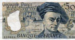 - BILLET De 50 F. QUENTIN DE LA TOUR - 1981 -  491 - 50 F 1976-1992 ''Quentin De La Tour''