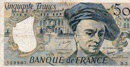 - BILLET De 50 F. QUENTIN DE LA TOUR - 1976 -  497 - 50 F 1976-1992 ''Quentin De La Tour''