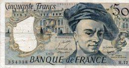 - BILLET De 50 F. QUENTIN DE LA TOUR - 1978 -  499 - 1962-1997 ''Francs''