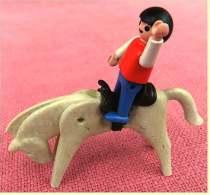 2 Alte Playmobil Figuren  -  Pferd Und Männchen - Playmobil